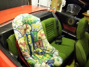 seat green baby